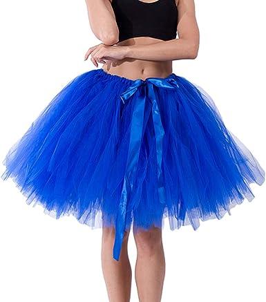 Falda de tutú para mujer de gasa tejida a mano, falda corta de ...