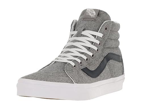 Vans Unisex Sk8-Hi Reissue (Varsity) Gray/True White Skate Shoe 8.5