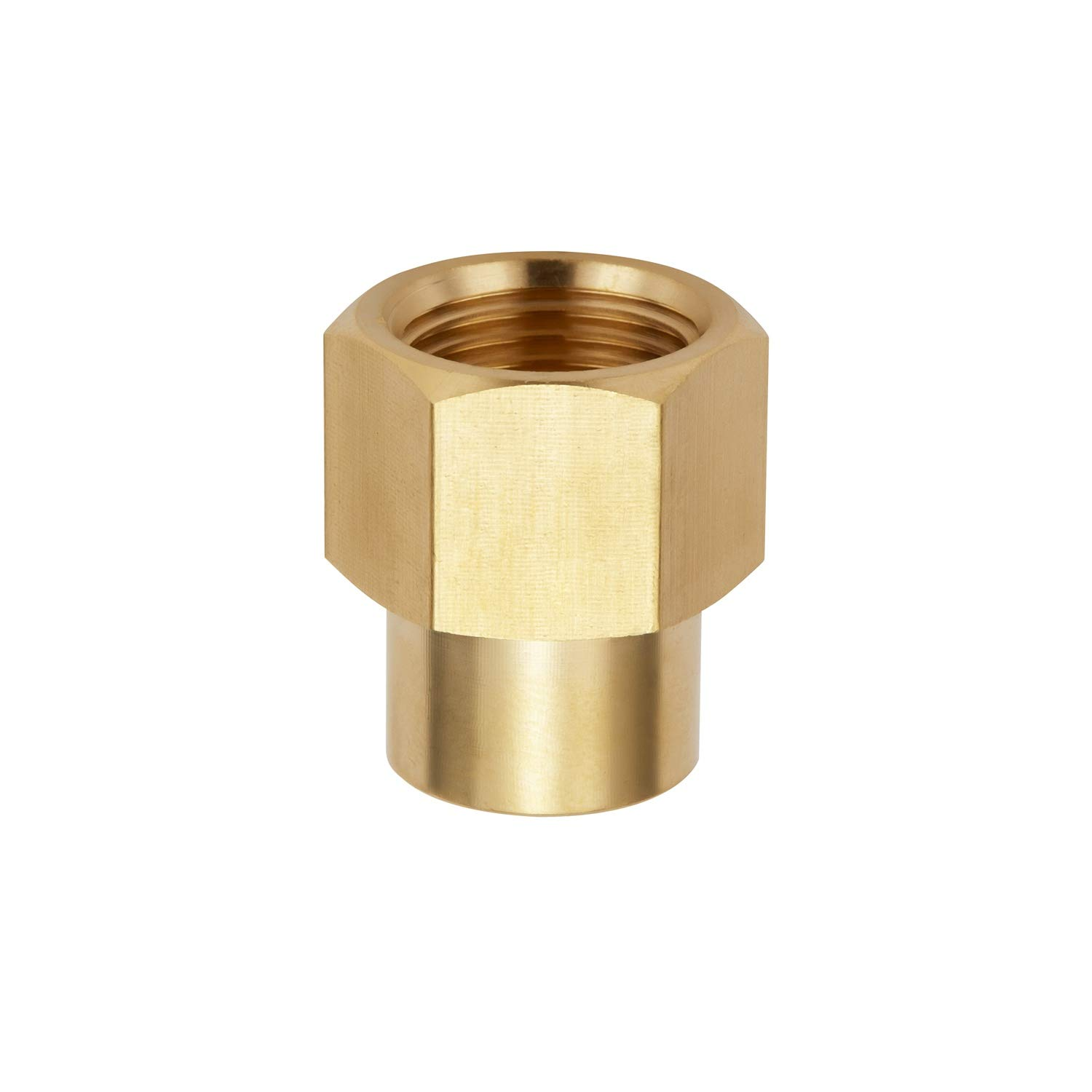 Litorange 4 PCS Brass Pipe Fitting Reducer Coupling Adapter,3//8 NPT Female x 1//4 Inch NPT Female Extension Connector for Fuel//AIR//Water//Oil//Gas WOG