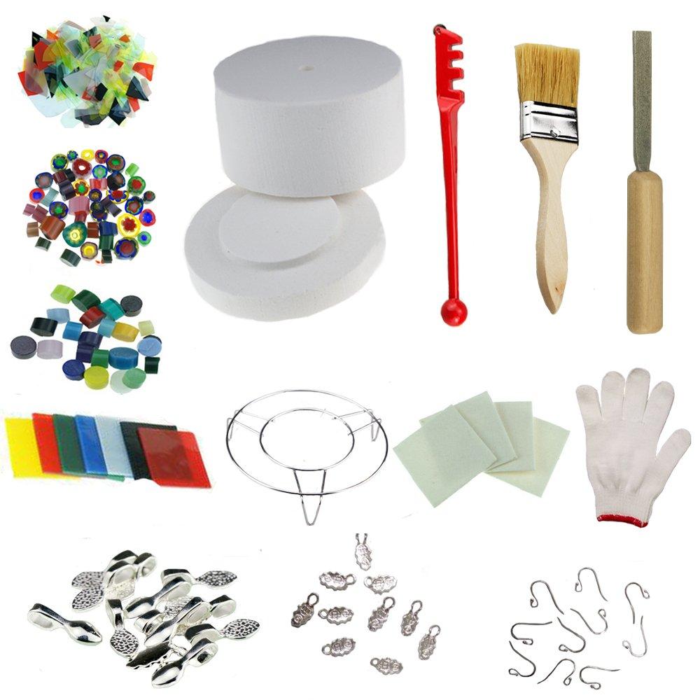 Professional Large Microwave Kiln Kit 14pcs Set for DIY Jewelry Glass Fusing Kiln Love Charm MK014