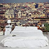 Non-woven Wallpaper - Rome Rooftops - Mural Wide by Apalis
