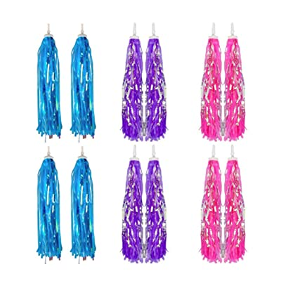 NUOBESTY Colourful Bike Streamers Handlebar Tassel Ribbons Pendant Accessories Grips Tassels for DIY Decor Kids Bicycle 12pcs : Sports & Outdoors