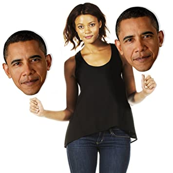 fb0d680eaf5 Image Unavailable. Image not available for. Color  Single Pack Build A Head  Barack Obama Big Heads Cardboard Face Cutout