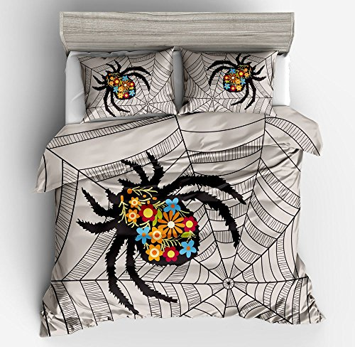 Gorgeous Spider Web Cobweb Cotton Microfiber 3pc 80''x90'' Bedding Quilt Duvet Cover Sets 2 Pillow Cases Full Size by DIY Duvetcover