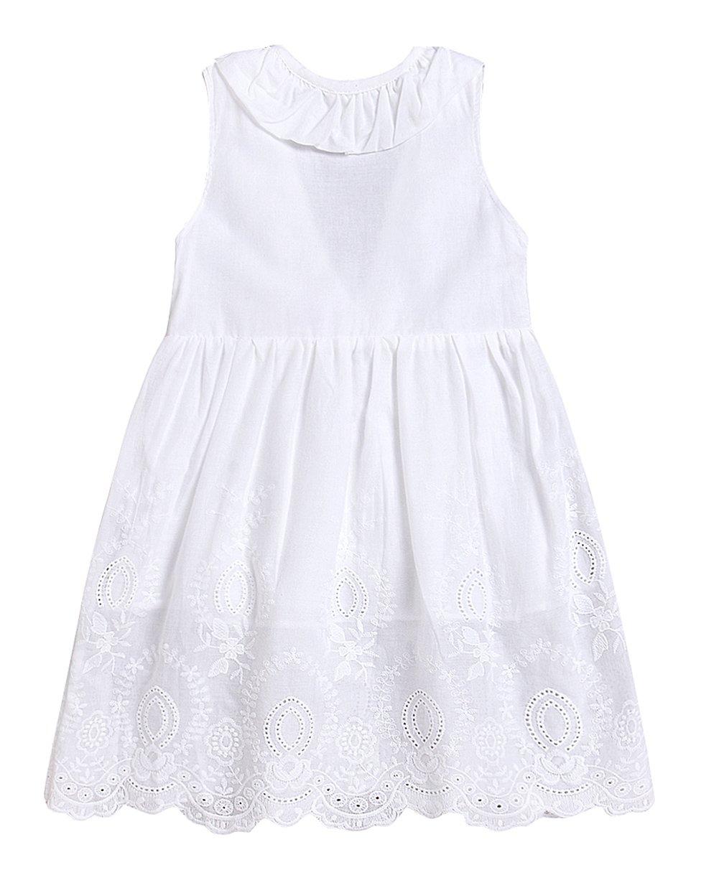 Seven Young Toddler Girls Plaid Tutu Dress Kids Summer Ruffle Backless Skirt Yellow Lattice A-Line Princess Dress (White, 6 T)