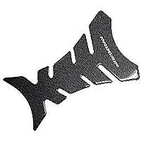 Fish Bone etiqueta de partes de motos Negro