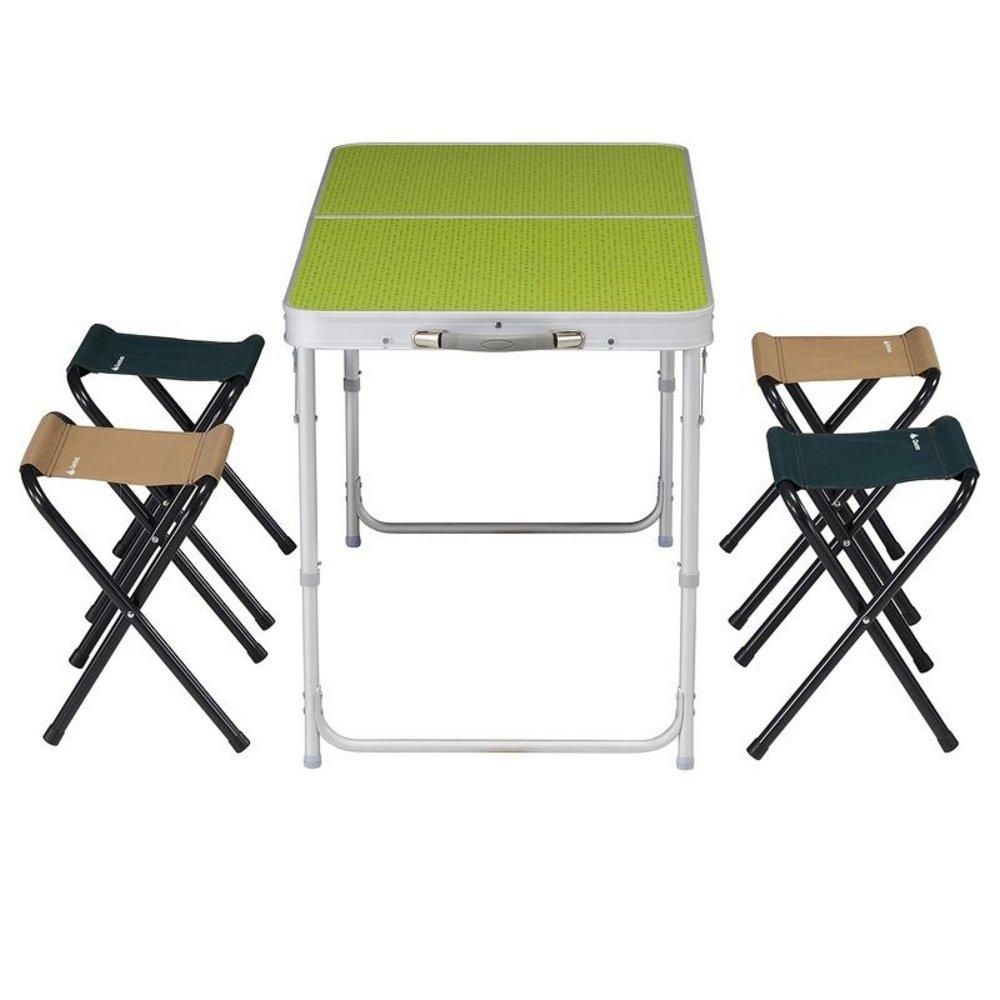 ec8cb3133 DECATHLON QUECHUA 4 plazas mesa de CAMPING plegable 4 BUILT-IN plazas verde   Amazon.es  Deportes y aire libre