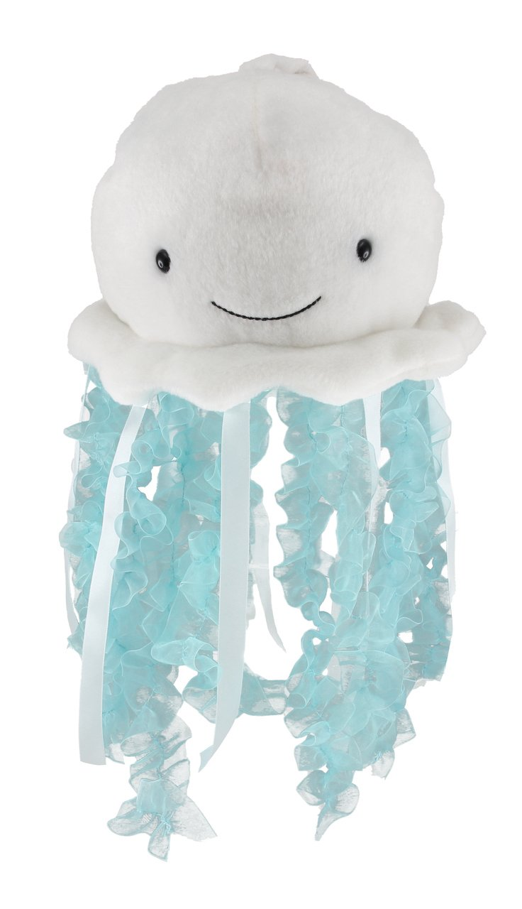"Cuddle Barn Bubbles The Jellyfish Light-Up Musical Stuffed Animal, 12"" Plush Toy Attaches to Crib Mobile has Soft Illuminating Lights and Soothing Ocean Wonder Melody to Help Baby Sleep"