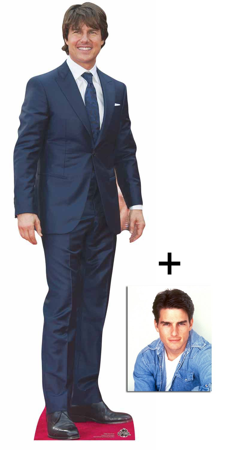 Fan Pack - Tom Cruise Lifesize Cardboard Cutout / Standee / Stand Up - Includes 8x10 Star Photo