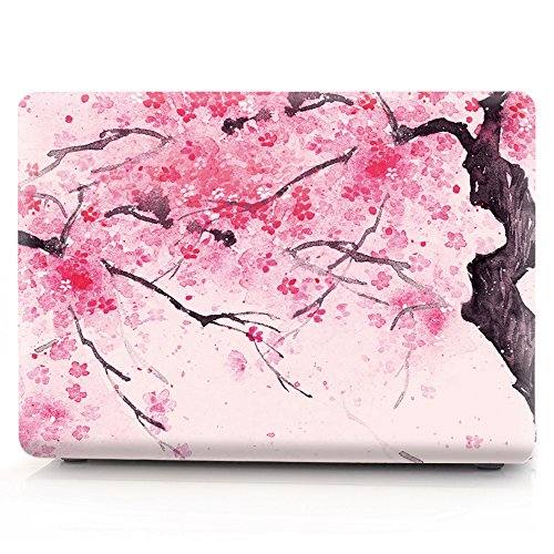 for MacBook 12 Inch Retina Case - L2W Plastic Pattern Protector Hard Shell Cover for MacBook 12 inch with Retina Display Model A1534 Sakura 10