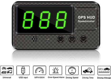 HUD GPS Speedometer Head Up Digital Display Car Speed Fatigue Alarm Car Plug New
