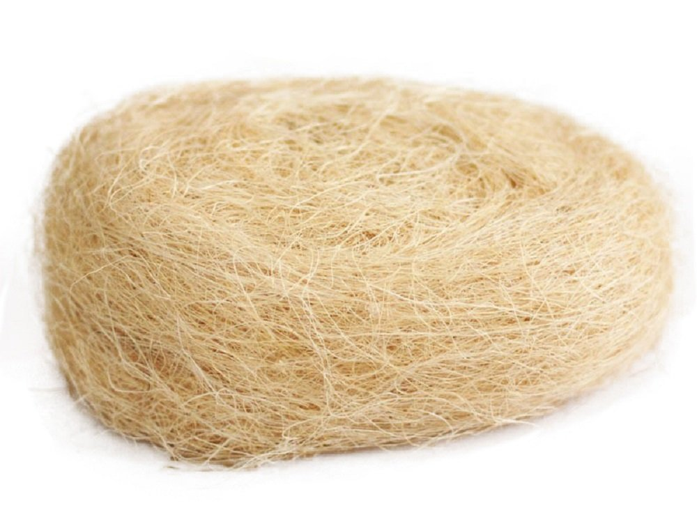 Yalulu 80g Natural Uncolored Raffia Jute Gift//Wedding Candy Packing Material Box Filler Supplies