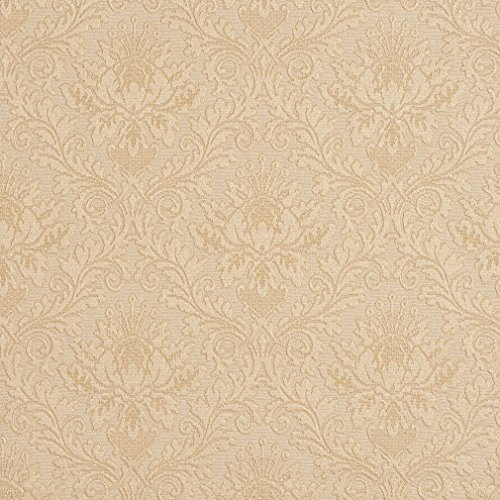 Cream Off White Heirloom Vintage Cameo Brocade Upholstery Fabric by the yard