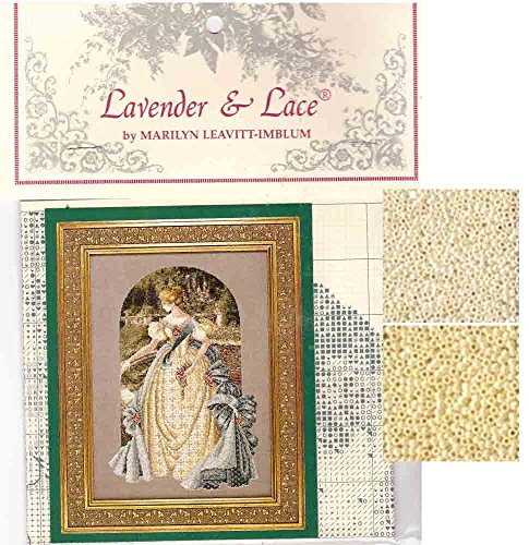 Lavender & Lace Cross Stitch Chart & Mill Hill Bead Set ~ Queen Anne's LACE #34