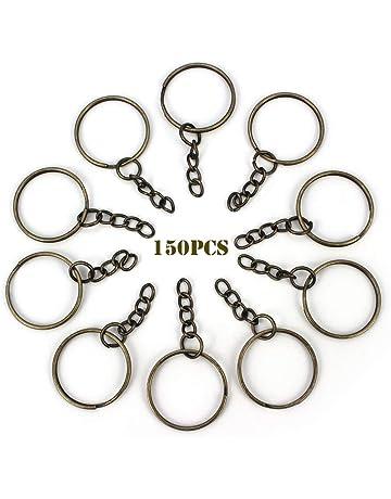 e7f1b0db0466 RUBY - 150 Anillas para llavero con cadena