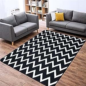 Alfombras de moda y alfombra de sal n alfombra de rayas - Alfombras comedor amazon ...