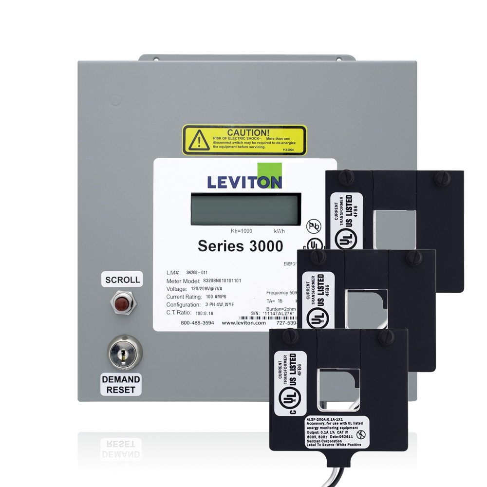 Leviton 3K48D-8D Series 3000 480V 3P3W 800A Indoor Meter Kit with 3 ...