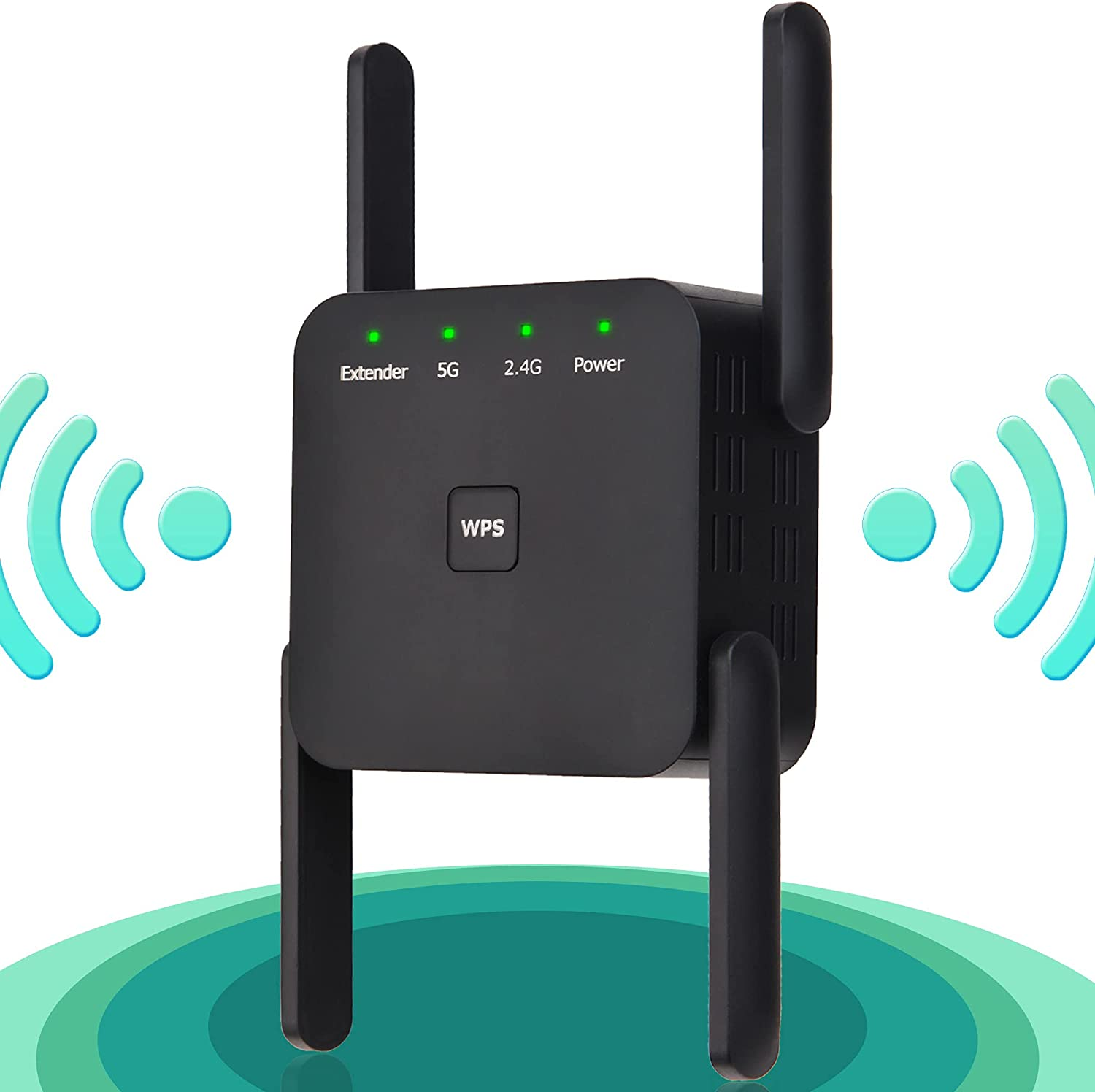 WiFi Extender, WiFi Booster, 1200mbps WiFi Extenders Signal Booster for Home, WiFi Signal Booster to Extend WiFi Signal WPS Easy Set WiFi Repeater 4 Antennas WiFi Booster and Signal Amplifier