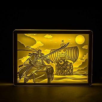 Luz Nocturna 3D Lámparalámpara Tridimensional De Talla De Papel ...