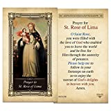 St. Rose of Lima Laminated Holy Card
