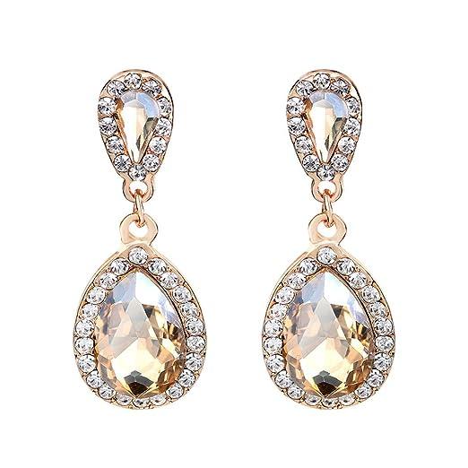 199aee36c Amazon.com: Lavany Fashion Women Earring Studs Water Droplets Shape ...