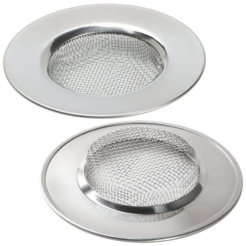 LB Trading Filtro de acero inoxidable para fregadero lavabo ba/ñera 7.7 cm Set of 2