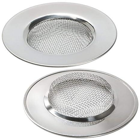 LB Trading Filtro de acero inoxidable para fregadero lavabo bañera 7.7 cm Set of 2
