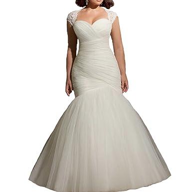 Plus Size Keyhole Back Wedding Dress