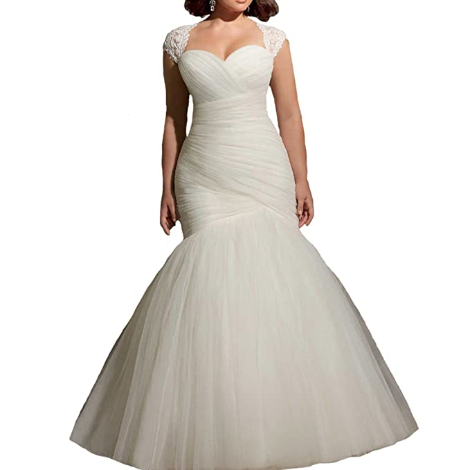 Fair Lady Sweetheart Lace Mermaid Wedding Dresses Plus Size ...