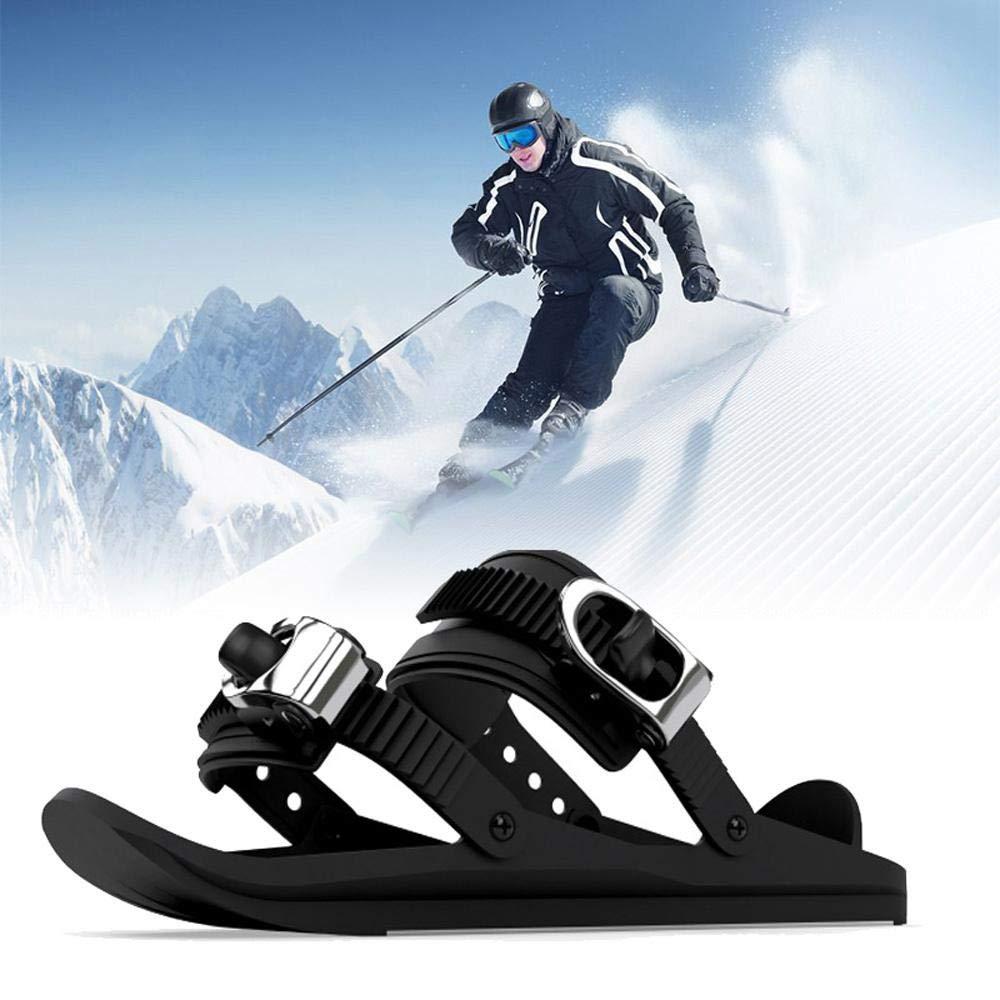 1 par patines para la nieve /úsalos para bajar la colina en y fuera de las ranuras Womdee Mini Ski Skates Snowshoes para nieve senderos forestales Mini esqu/ís cortos