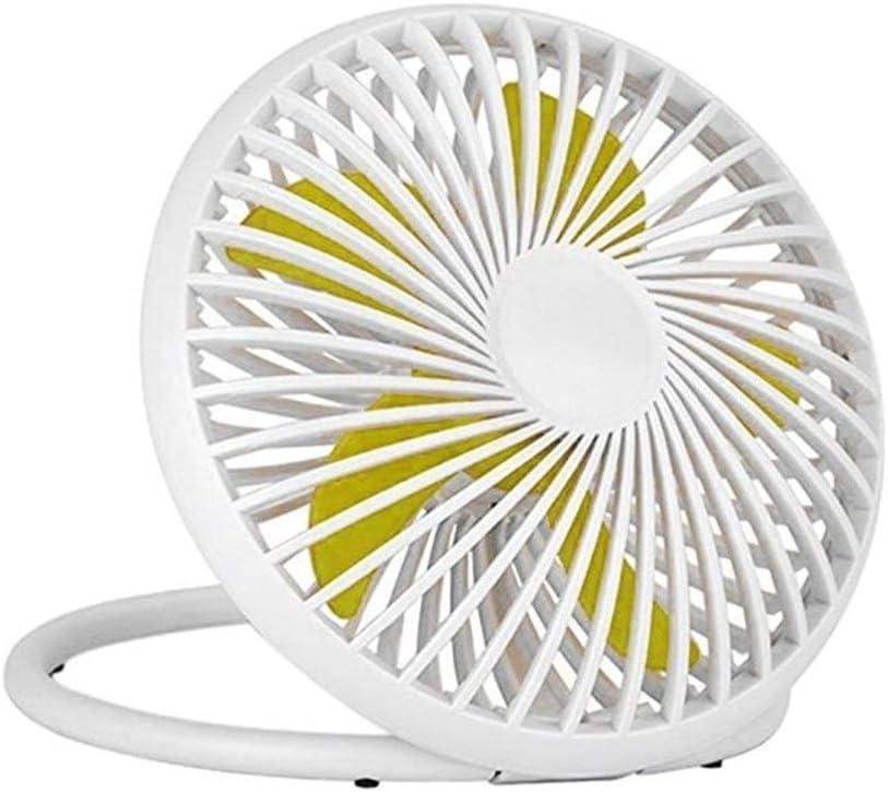 Air Cooling Fan Mini USB Power Desk Stand Fan Cute Hangable Fan Home Office Desktop Decoration Portable Hot Summer Supply Color : White