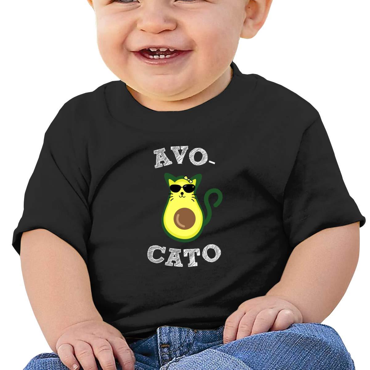 Avocado Cat Short Sleeve T-Shirts Baby Boy
