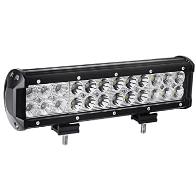 YITAMOTOR Led Light Bar ,12 inches 72W LED Light Bar Spot Flood Combo Led Driving Light Waterproof for Jeep off road Van Camper Wagon ATV AWD SUV 4WD 4x4 Pickup Van Off-road: Automotive