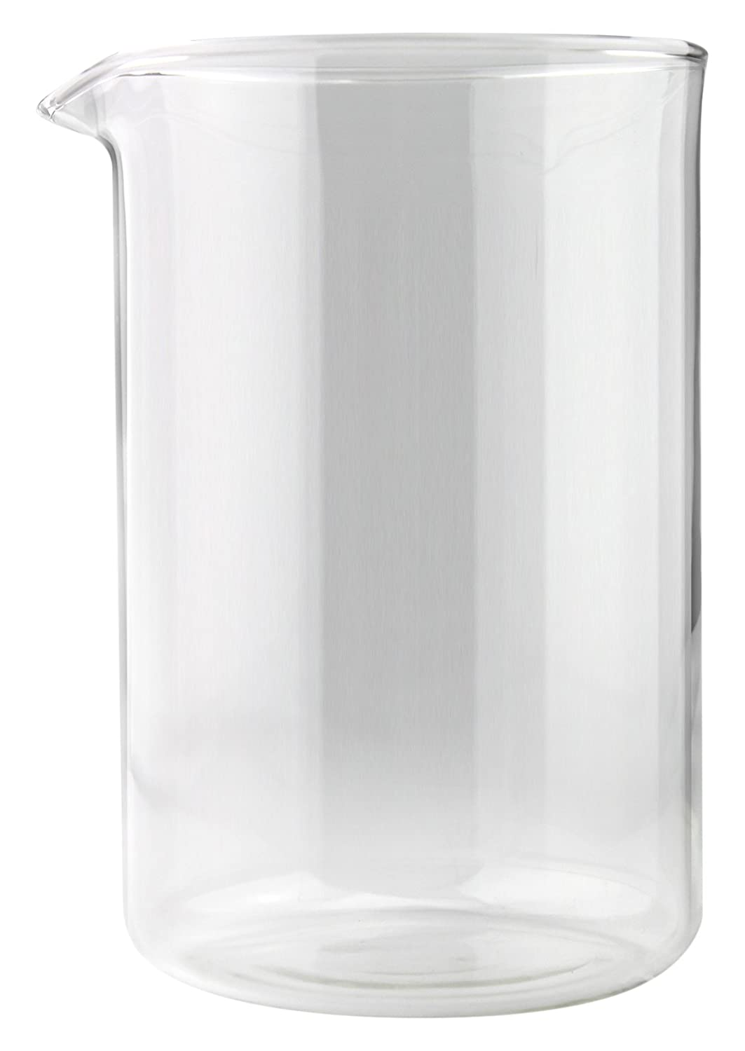 Café Ole Cup Spare Replacement Glass Beaker Suitable For Grunwerg Classic Cafe Ole Cafetieres, 6 Cup TM08/GL