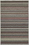 Dorm Rugs Garland Rug Carnival Area Rug, 4-Feet by 6-Feet, Random Multi-Color Stripes