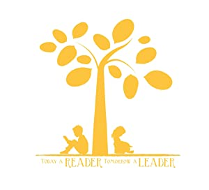 Today a Reader Tomorrow a Leader Wall Decor | Library, School Classroom, or Bedroom Vinyl Decoration for Boys or Girls | Small, Large Sizes | Black, White, Blue, Pink, Purple, Other Colors