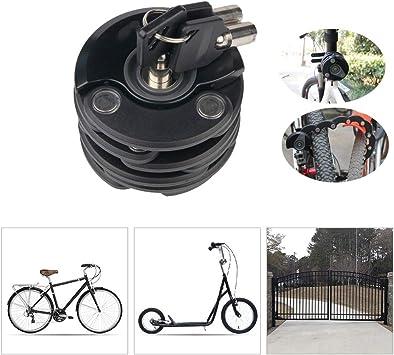 LieYuSport Candados Plegables Candado Bici,Fácil de Llevar ...