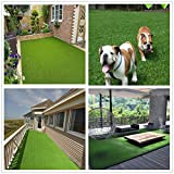 Deluxe Realistic Artificial Grass Turf 5FTX14FT, 70