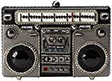 Mary Frances Tuned In Retro Beaded Crystal Jeweled Boombox Casette Tape Clutch Handbag Shoulder Bag