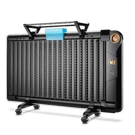 NAUY@ Versión mecánica Negra Calentador de radiador Lleno de Aceite Mini termostato de Sala eléctrica
