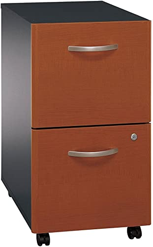 Bush Business Furniture Assembled Rolling File Cabinet in Two Tone – Series C