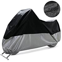 COFIT Housse de Protection pour Moto, Couverture Imperméable Anti Vent Poussière UV Pluie Humidité De Neige Protection avec Trous de Verrouillage - XL