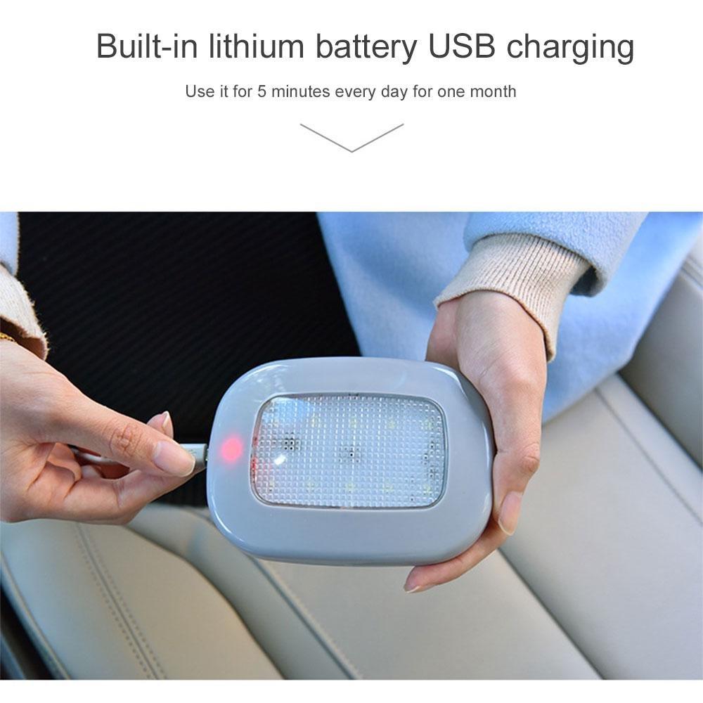 autom/áticas con ventosa magn/ética beige Luces LED para techo de coche recargable mediante USB universal de Pawaca Ice Blue 2.00watts luz de maletero inal/ámbricas