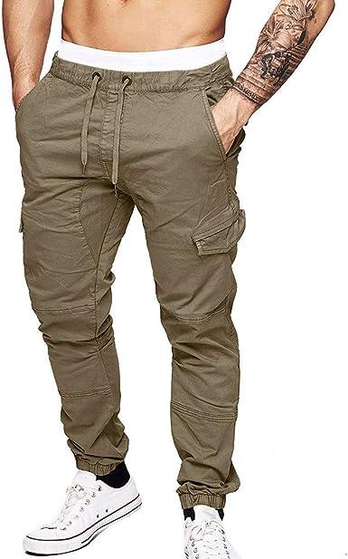 Tefamore Pantalones Deporte Hombre Chándal Pantalón Personalidad ...
