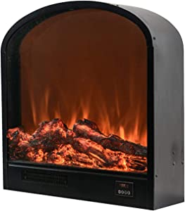 WE&ZHE Electric Fireplace Insert,Freestanding & Recessed Electric Stove Heater with Realistic Flame Effect,Touch Screen,Remote Control