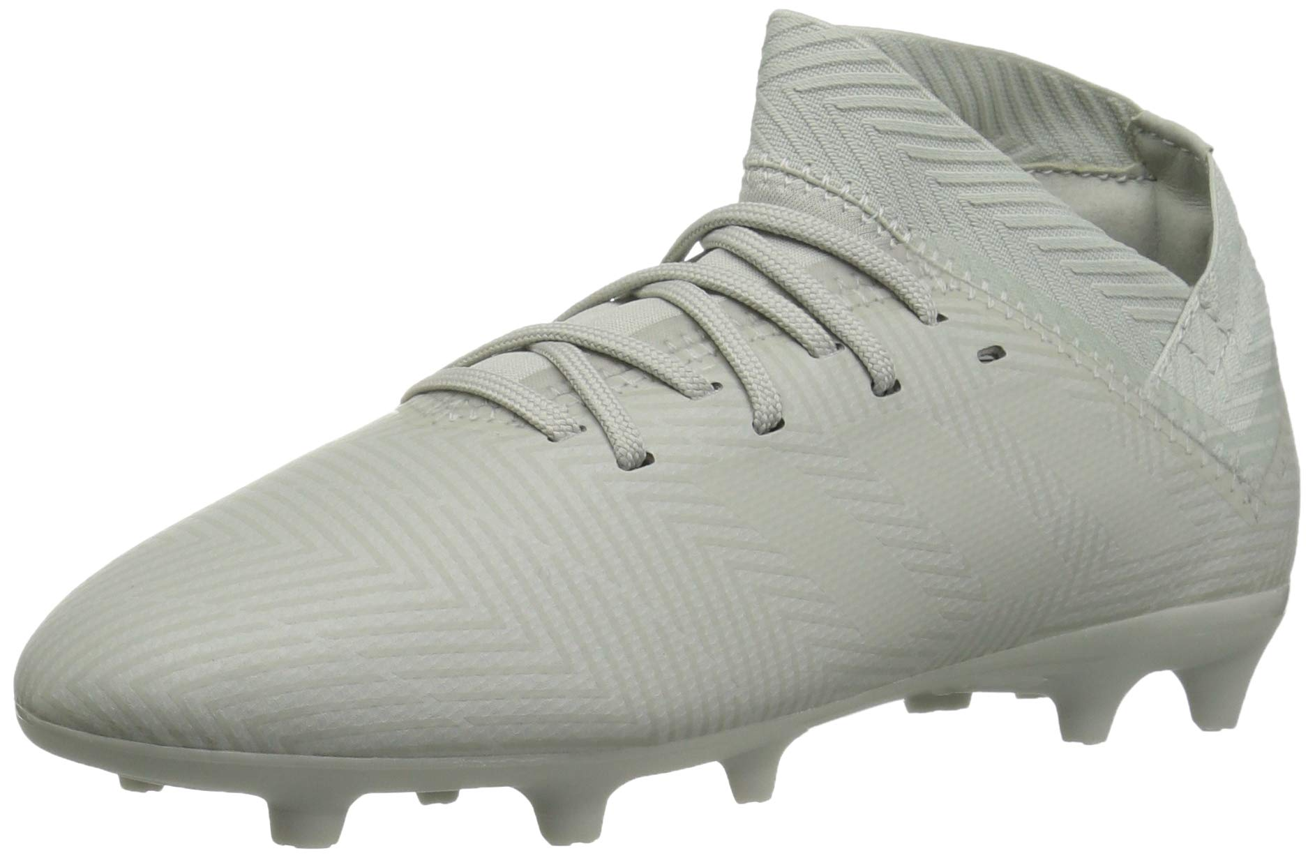 adidas Unisex Nemeziz 18.3 Firm Ground Soccer Shoe, ash Silver/White Tint, 1 M US Little Kid