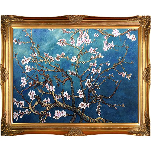 overstockArt Branches of an Almond Tree in Blossom by Vincent Van Gogh Painting with Victorian Gold Frame, Gold (Gold Victorian Frame)
