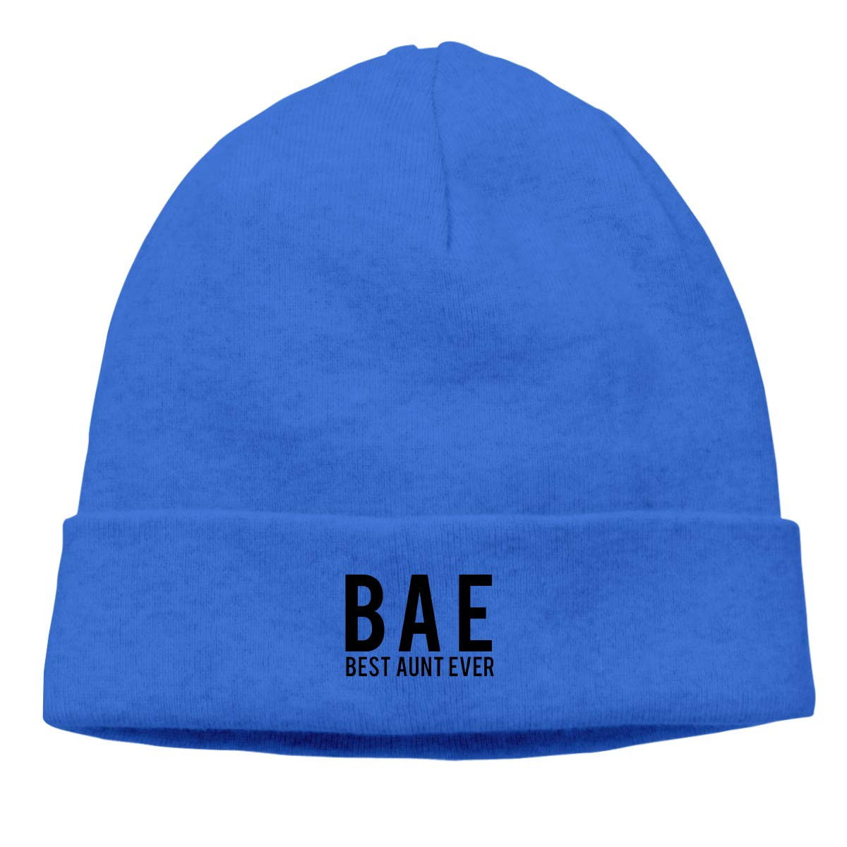 Bae Best Aunt Ever Logo Unisex Cuffed Oversized Baggy Slouchy Beanie Hat