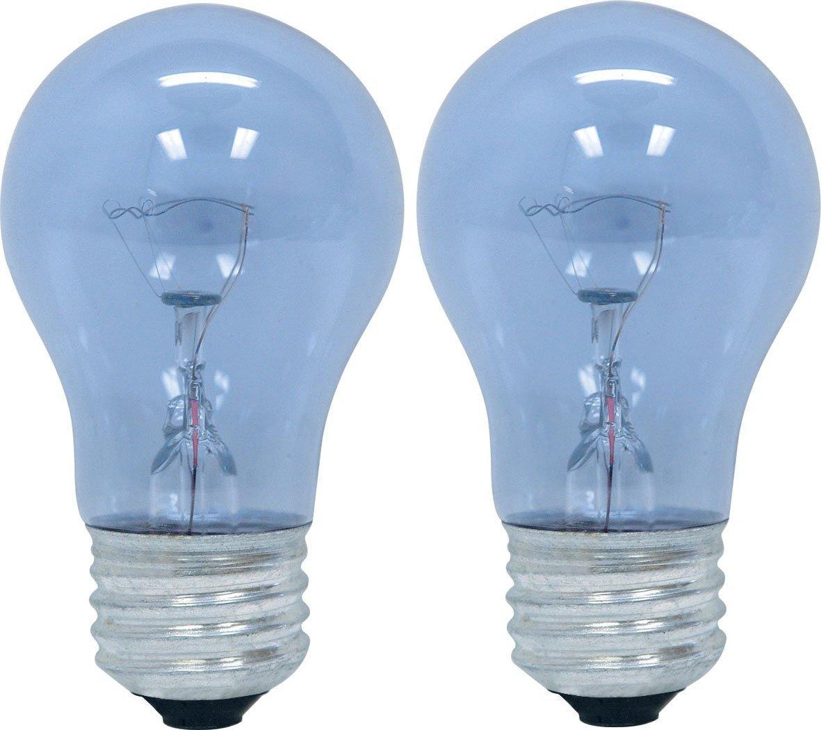 GE Appliance 21188 40-Watt, 415-Lumen A15 Light Bulb with Medium Base, 2-Pack GE Lighting