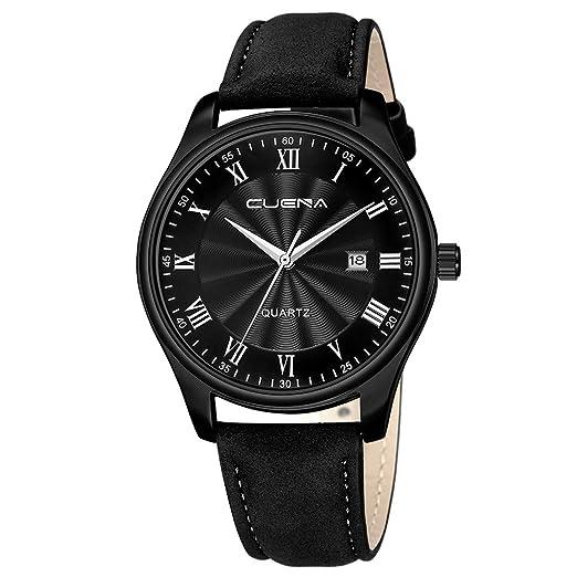 Reloj de Pulsera, Reloj de Cuarzo Hombre Cuarzo Japonés Elegante Casuales de Lujo Clásicos de Acero Inoxidable Impermeables Reloj Analogico para Hombre: ...